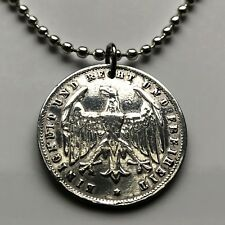 1923 Germany 500 Mark coin pendant German eagle Bundesadler Weimar Berlin 002489