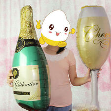Hot Foil Balloons Champagne Bottle Birthday Wedding Christmas Party Decor Gifts