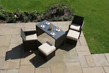 Maze Rattan Balcony Cube Dining Brown Grey Garden Furniture Set