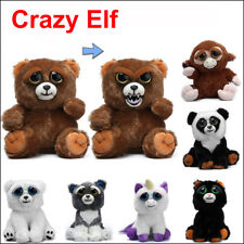 Crazy Elf Change Face Feisty Toy Gifts Soft Plush Stuffed Scary Face Funny Toys