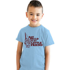 Youth Say Hello To My Little Friend T Shirt Funny Gnome Scarface Tee Kids
