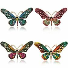 Women Fashion Colorful Crystal Rhinestone Butterfly Brooch Pin Jewelry Gift New