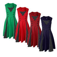 Women Polka Dot Rockabilly Vintage 50s 60s Swing Party Cocktail Pin up Dress