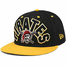 Pittsburgh Pirates New Era Big Word 59FIFTY Fitted Hat - Black/Gold