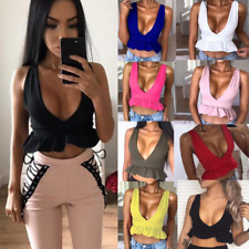 New Sexy Womens Summer Short Crop Top Sleeveless Shirt Blouse Casual Tank Vest