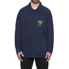 Huf - The Cadet Fleece Coaches Jacket in Navy NWT HUF WORLD WIDE FREE SHIPPING