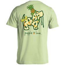 Puppie Love Rescue Dog Adult Unisex Short Sleeve Cotton T-Shirt, Pineapple Pup