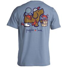 Puppie Love Rescue Dog Adult Unisex Short Sleeve Cotton T-Shirt, Crab Pup