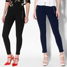 Women Ladies Ankle Zip Tailored Pencil Trousers Stretch Skinny Slim Fitted Pants