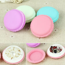 Storage Boxes Cute Mini Macarons Jewelry Pill Earring Box Case Containers