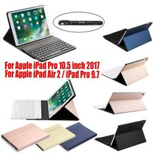 Aluminum Wireless Bluetooth Keyboard + Leather Case For Apple Pro 10.5 9.7 Air 2