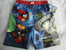 NEW Swim Trunks Suit Shorts Angry Birds Pixar Monster Boy 3T & 4T