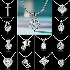 Crystal Rhinestone Zircon Cross Pendant Necklace Invisible Line Clavicle Chain