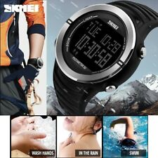 Mens Sports Fashion LED Digital Watch Pedometer Calorie Military Wristwatches