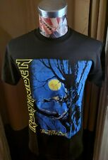 BRAND NEW IRON MAIDEN FEAR OF THE DARK BLUE MOON TREE CREATURE BLACK T SHIRT
