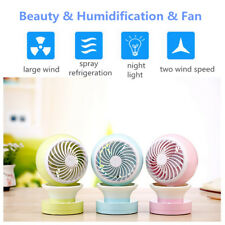 Mini Portable Air Conditioning Fan USB Mist Spray Home Office Cooling 2 Speed