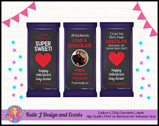 CUSTOM PERSONALISED VALENTINES DAY GIFT CADBURY CHOCOLATE LABELS GIFTS PRESENTS