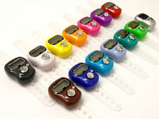 Electronic Digital LCD Finger Tally Counter Select Colour Golf Prayer Head Count