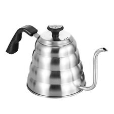 1L 1.2L Drip Pot Kettle Stainless Steel Coffee Maker with Thermometer Inside