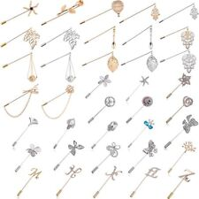 Women Men Unisex Crystal Pins Brooches Badge Charm Jewelry Suit Costume Gift New