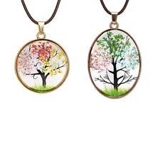 Fashion Women Jewelry Life Tree Dried Flower Pendant Necklace Costume Party Gift