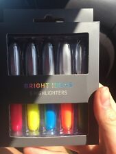 Highlighters Pink Blue Yellow Green Orange