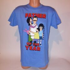 Bobs Burgers T-Shirt Father of the Year Blue Short Sleeve Graphic Bobs Burgers