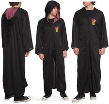NEW Harry Potter Gryffindor Hooded Cosplay Cloak Hooded Robe Halloween Costume M