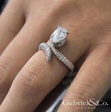 Elegant Silver White Topaz Gold Filled Ring Wedding Engagement Jewelry Size 5-10
