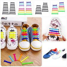 Easy No Tie Elastic Silicone Shoe Laces For Adults Kids Trainers Boosts Shoes MT