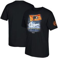 Philadelphia Flyers Reebok 2017 Stadium Series Flag in Ice T-Shirt - Black