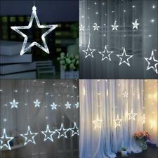 LED Star String Fairy Curtain Lights Christmas Home Party Wedding Decoration