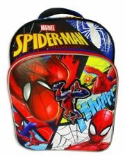 "AMAZING SPIDER-MAN 16"" Full-Size Boys Backpack w /Optional Insulated Lunch Box"