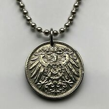Germany 10 Pfennig coin pendant German eagle crown Deutschland Berlin n000315