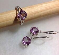 Sterling Silver Natural Gemstone Ring or Necklace & Earrings Set *VARIETY*