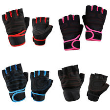 Hot Weightlifting Fitness Cycling Sport Half Finger Anti-skid Breathable Gloves