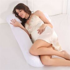 Comfort U-Shaped Pregnancy/Maternity Pillow Case Cover Full Body Support White