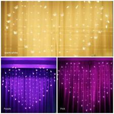 Led String Lights Heart Icicle Butterfly Curtain Wedding decoration Fairy Lamp