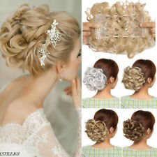 Hair Bun Extension Curly Hair Combs Clip in Ponytail Scrunchie Chignon Hairpiece