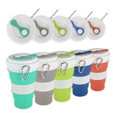 Folding cup 550ml Silicone Portable Telescopic Drinking Collapsible Travel Cup