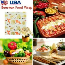Beeswax Food Wraps Assorted 3 Pack Eco Friendly Reusable Plastic Free Storage US