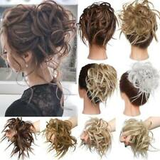 Large Thick Messy Bun Hair Piece Scrunchie Hair Extensions Updo Curly As Human