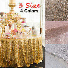 Square Wedding Party Delight Shiny Sequin Tablecloth Engagement Section Decor