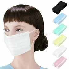 50Pcs 3-ply Filter Masks Disposable Surgical Medical Earloop Face Mouth Masks