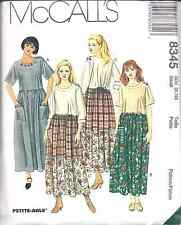 8345 Vintage McCalls Sewing Pattern Misses Loose Fitting Pull on Dress UNCUT OOP