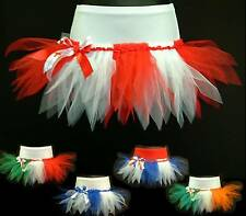 PLUS SIZE CHEERLEADING TUTU MINI SKIRT~ FLAG PARTY~ FOOTBALL RUGBY FANCY DRESS