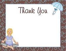 NEW Baby Shower Thank You Cards Baby Bump