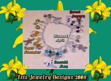 Isis Jewelry Design Mother & Child Birthstone Bracelet made w/ Swarovski Crystal