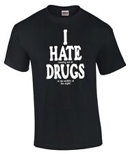 * I HATE ( love ) DRUGS * weed ganja cannabis bier alkohol saufen PARTY T-SHIRT