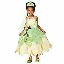 DISNEY PRINCESS & THE FROG TIANA DELUXE COSTUME-NEW